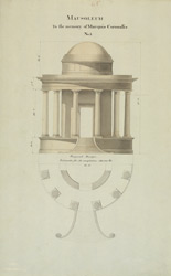 Design for a mausoleum in memory of Marquis Cornwallis at Ghazipur (U.P.)